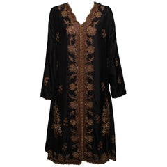 Vintage Silk and Embroidered Caftan in The style of Dries Van Noten