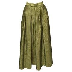 Pleated Maxi Faille Ball Skirt
