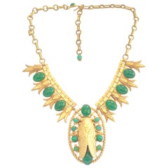Askew of London Egyptian Revival Cicada Necklace