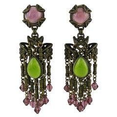 Jean Louis Blin Vintage Art Nouveau Inspired Dangling Earrings