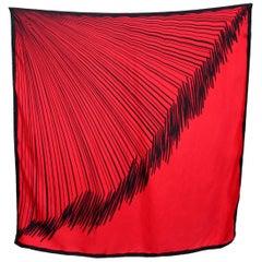 1990s Roberta Di Camerino Red Blue Silk Scarves Foulard