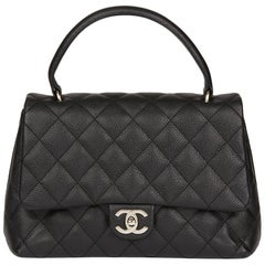 2006 Chanel Black Quilted Caviar Leather Classic Kelly