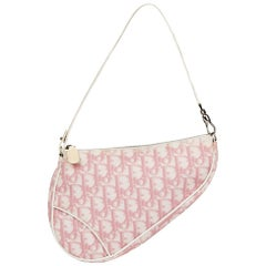 2004 Christian Dior Pink Monogram Canvas Saddle Pouch
