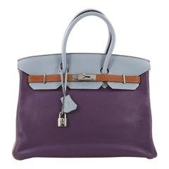 Hermes Birkin Handbag Arlequin Clemence 35
