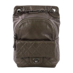 Chanel Drawstring CC Flap Backpack Quilted Lambskin Small