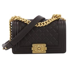 Chanel Boy Flap Bag Quilted Calfskin Small