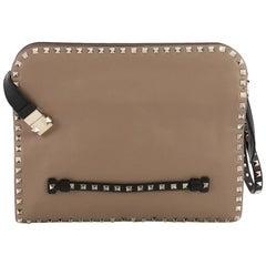 Valentino Rockstud Wristlet Clutch Leather Medium