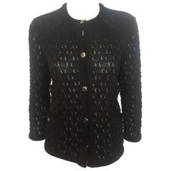 Chanel Black Crochet Cardigan