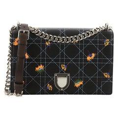 Christian Dior Diorama Flap Bag Cannage Embroidered Leather Medium