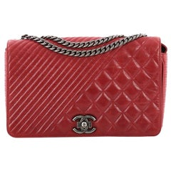Chanel Coco Boy Flap Bag Quilted Aged Calfskin Medium