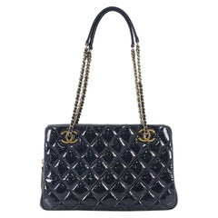 Chanel Eyelet Tote Quilted Patent Small