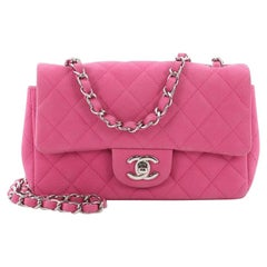 Chanel Classic Single Flap Bag Quilted Matte Caviar Mini