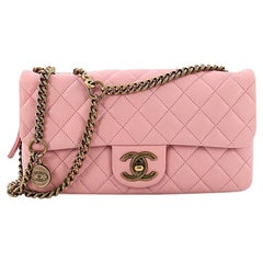 Chanel CC Crown Flap Bag Quilted Leather Small