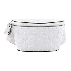 Valentino Rockstud Spike Free Belt Bag Quilted Leather