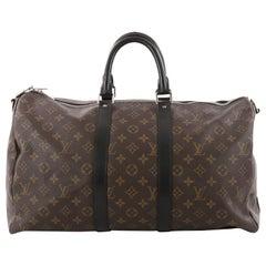Louis Vuitton Keepall Bandouliere Bag Macassar Monogram Canvas 45