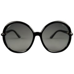 TOM FORD Black Round Ombre Lens CAITHLYN Sunglasses