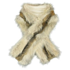 YVES SAINT LAURENT by TOM FORD Brown Fox & Coyote Fur Scarf Stole