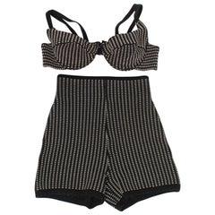 Iconic 1990's Alaia 2 Piece Swimsuit