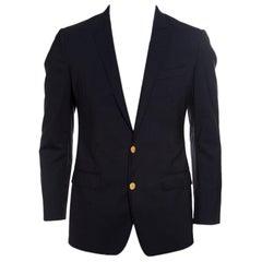 Dolce and Gabbana Black Wool Tailored Martini Blazer M
