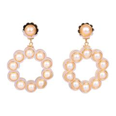 Chanel Runway Worn Lucite and Pearl Earrings