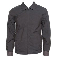 Dolce and Gabbana Brown and Grey Reversible Zip Front Bomber Jacket S