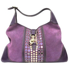 Gucci Purple Suede/Leather Jackie Bag
