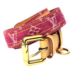 Louis Vuitton Pink Monogram Denim Belt