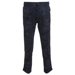 Dolce and Gabbana Navy Blue Washed Effect Sweatpants XS