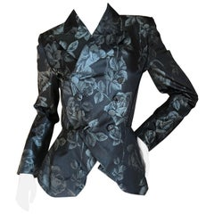 Jean Paul Gaultier Femme Metallic Floral Brocade Vintage Double Breasted Jacket.