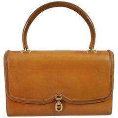 Hermes 60's Vintage Natural Leather Chaine D'ancre Bag
