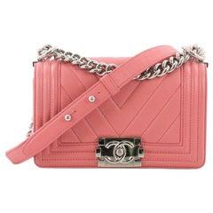 Chanel Boy Flap Bag Chevron Calfskin Small