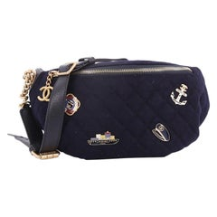 Chanel Paris-Hamburg Charms Waist Bag Quilted Wool and Lambskin