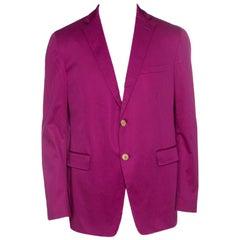 Etro Pink Cotton Mineide Soft Blazer L