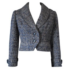 Christian Dior Haute Couture Automne-Hiver 1975 Cropped Boucle Jacket