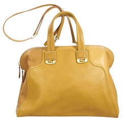 Yellow Fendi Leather Cameleon Satchel