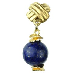 Lapis Lazuli Earrings on Gold vermeil posts