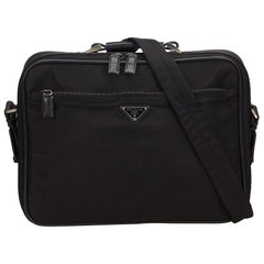 Prada Black Nylon Tessuto Business Bag