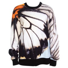 Givenchy Multicolor Butterfly Wing Print Cotton Terry Sweatshirt M