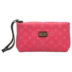 Louis Vuitton Pink Monogram Embossed Scuba Clutch