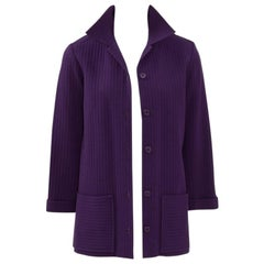 Yves Saint Laurent Ribbed Blazer Jacket