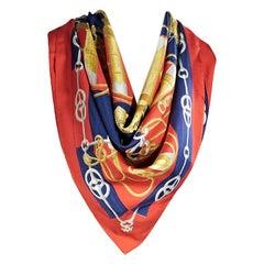Multicolor Hermes Nautical Silk Scarf