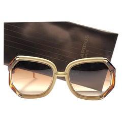 Ted Lapidus Paris Vintage Tortoise Beige and Gold Sunglasses, 1970