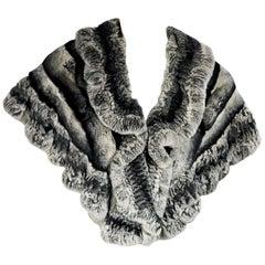 Vintage Grey Chinchilla Fur Stole