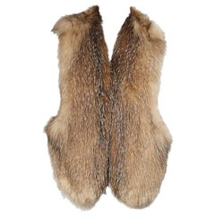 Tan Tamara Mellon Fox Fur Vest