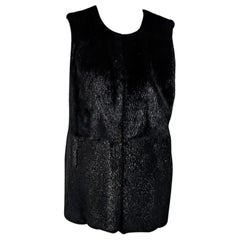 Purple Tasha Tarno Silver Fox Fur Vest
