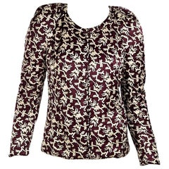 Burgundy Isabel Marant Printed Cotton/Silk Jacket