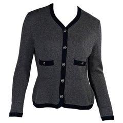 Grey Chanel Cashmere Cardigan