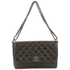 Chanel Boy Clasp Chain Bag Quilted Aged Calfskin Medium