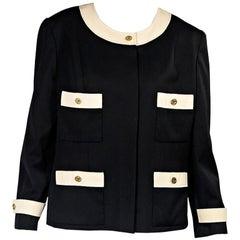 Black & Cream Vintage Chanel Blazer