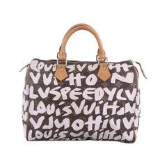 Louis Vuitton Speedy Handbag Limited Edition Monogram Graffiti Canvas 30